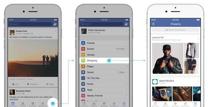 Online-Einkäufe sollen bei Facebook künftig leichter gehen.