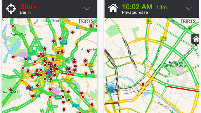Verkehrs-App Inrix