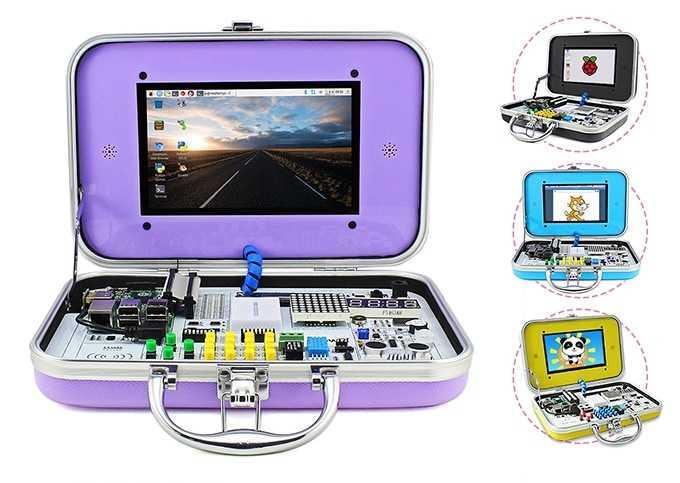 CrowPi: Vier Koffer mit Elektronik