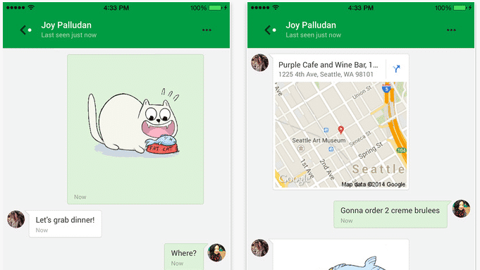 iOS-Version von Google Hangouts reicht Android-Funktionen nach
