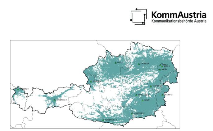 Landkarte Österreichs