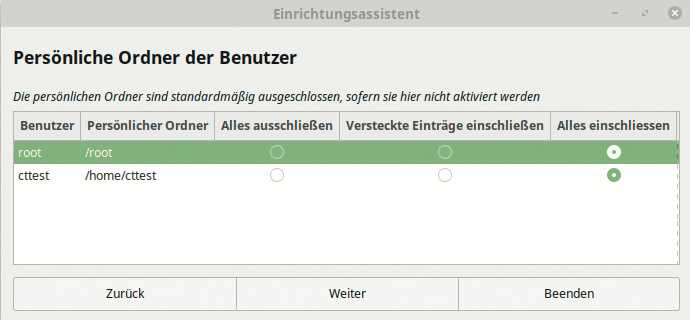 Timeshift legt Schnappschüsse von der Betriebssystem-Installation an und sichert auf Wunsch auch Ihre persönlichen Dateien.