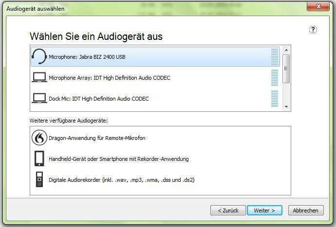 Dragon NaturallySpeaking lässt sich jetzt auch mit dem eingebauten Notebook-Mikrofon verwenden.
