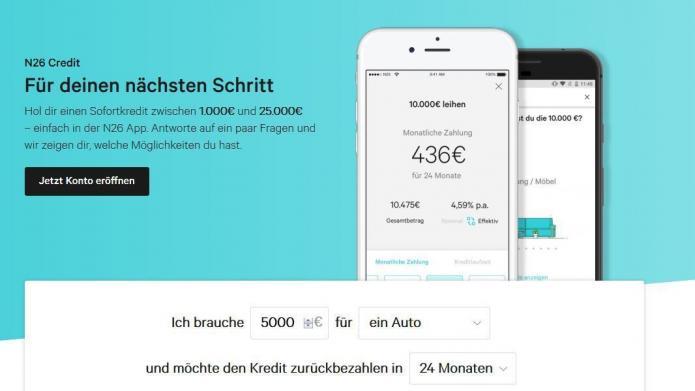 """Bank-Startup N26 bietet """"Echtzeit-Kredite"""" per Smartphone ..."""