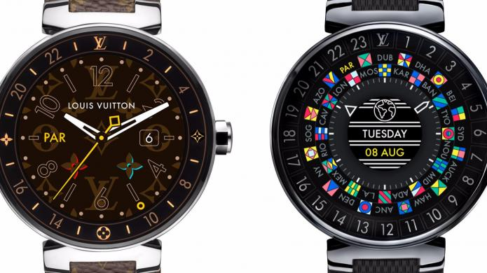 tambour horizon louis vuitton stellt erste smartwatch vor heise online. Black Bedroom Furniture Sets. Home Design Ideas