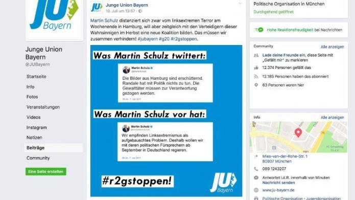 Landgericht Hamburg verbietet erfunden Schulz-Tweet der Jungen Union