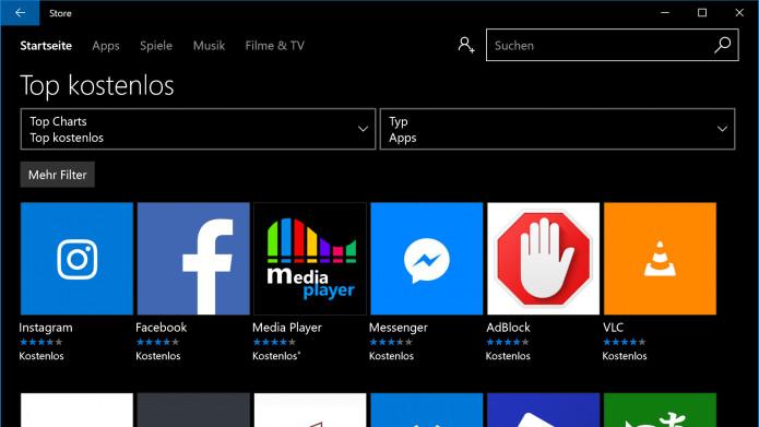 windows 10 gratis apps im store jetzt ohne microsoft. Black Bedroom Furniture Sets. Home Design Ideas