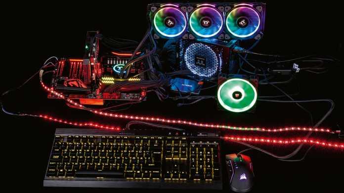 RGB-LED-Beleuchtung für PCs und Peripheriegeräte