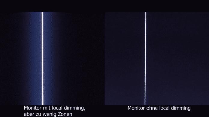 Wenn das Display zu wenig Dimming-Zonen hat