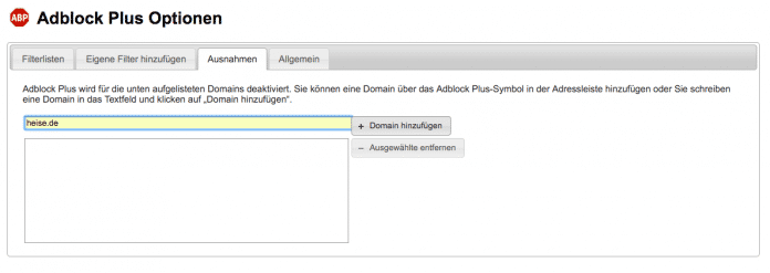 Adblock Plus in Chrome