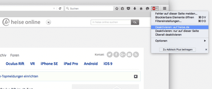 Adblock Plus in Firefox