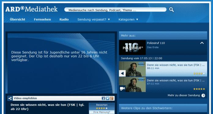 Sendezeitschranke ARD-Mediathek