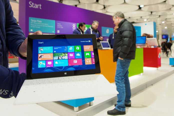 Läuft nicht gut und zwingt Microsoft zu hohen Abschreibungen: das ARM-Tablet Surface RT
