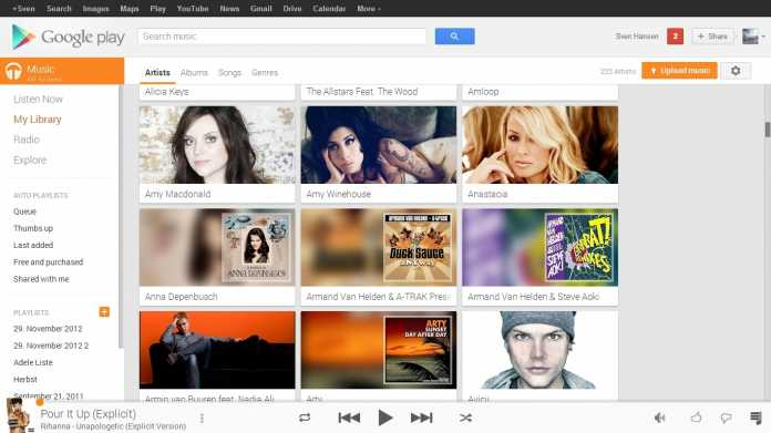 "Google Play Music mit integriertem ""All Access"""