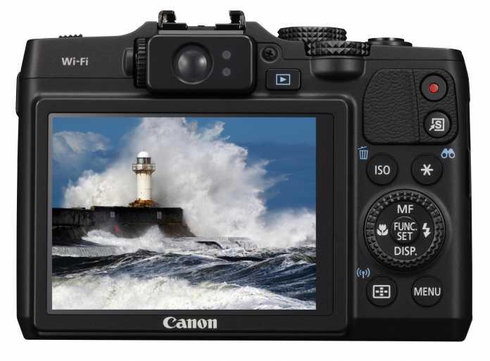 Canon PowerShot G16 von hinten