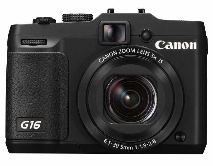 Canon PowerShot G16 von vorne