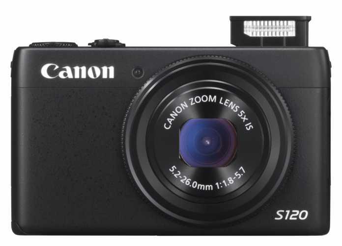 Canon PowerShot S120 von vorne