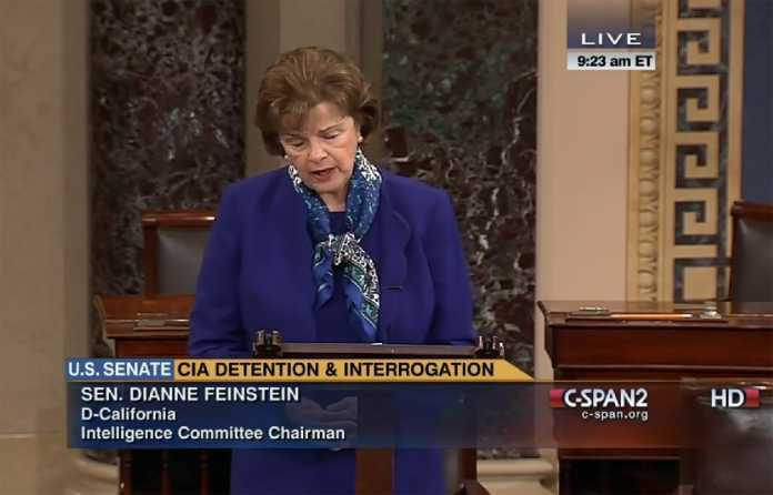 Feinstein bei ihrer Rede im US-Senat