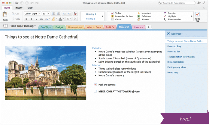 OneNote für OS X