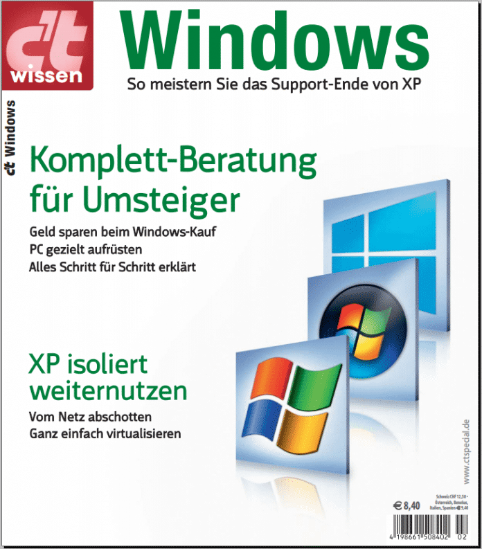 """""""c't wissen Windows"""": So meistern Sie das Support-Ende von Windows XP"""