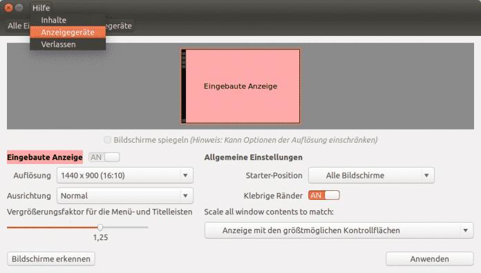 Zu den Neuerungen in Ubuntu 14.04 gehören lokal integrierte Menüs und die Unterstützung für hochauflösende Displays.