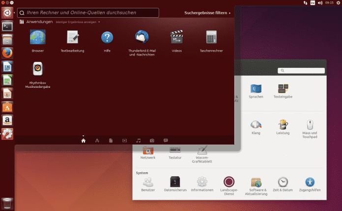 Der Unity-Desktop in Ubuntu 14.04.