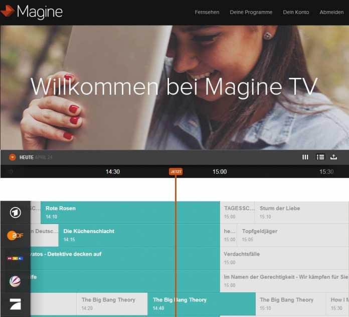 Fernsehdienst Magine TV startet in Deutschland