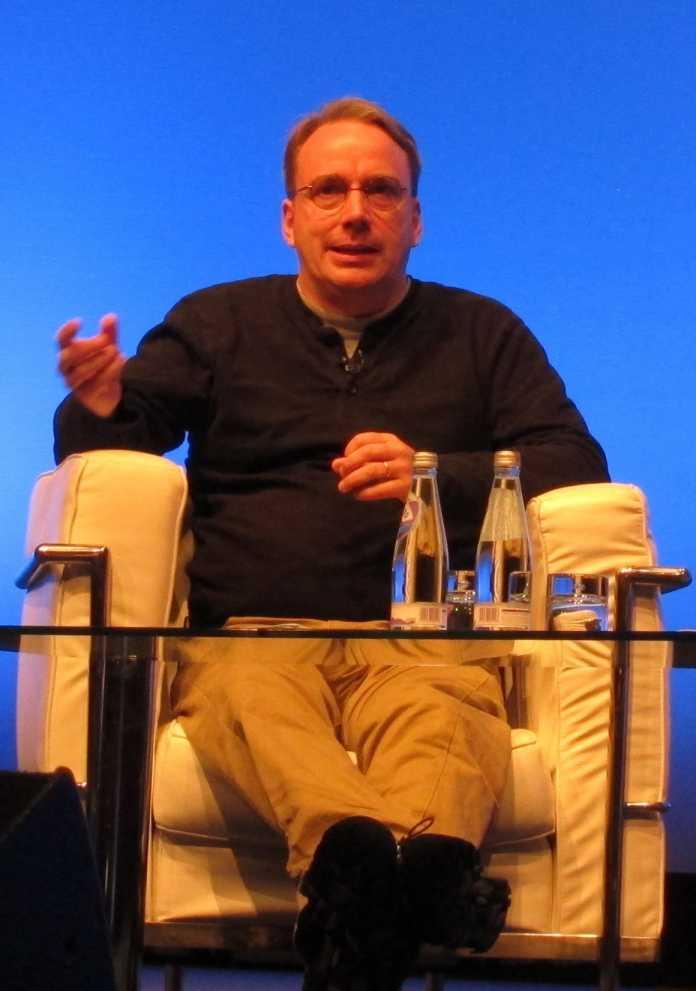 Linus Torvalds auf der LinuxCon Europe 2013.