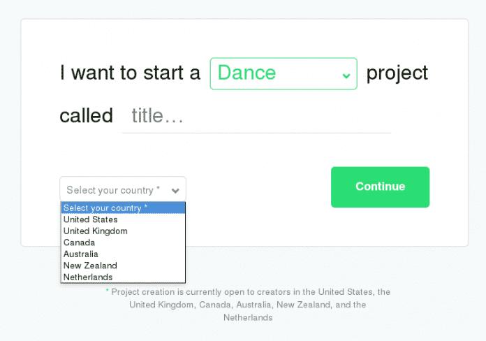 Derzeit unterstützt Kickstarter nur Projektmacher aus sechs Ländern.