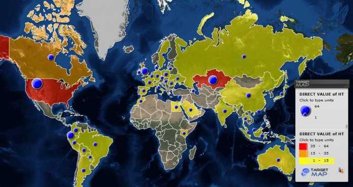 In über 60 Ländern entdeckten die Kaspersky-Forscher RCS-Kontroll-Server -- zwei davon in Deutschland.