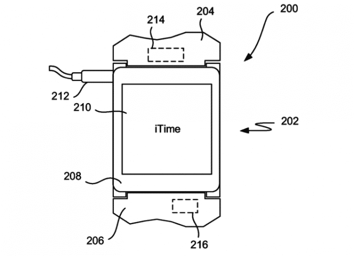 "Apples im Patent ""iTime"" genannte Armbanduhr"