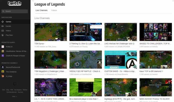 Zu populären Spielen lassen sich bei Twitch gleich eine ganze Reihe von Livestreams finden.