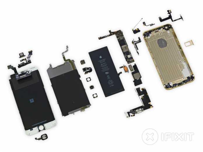 Das iPhone 6 Plus in Einzelteilen