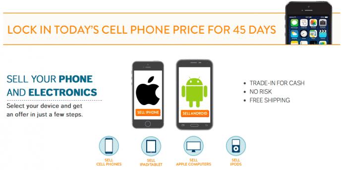 Der Reseller tauscht gebrauchte Smartphones gegen Geld