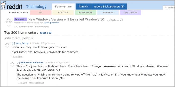 Sogar für eine Versionsnummer 11 finden die Forenteilnehmer bei reddit gute Gründe.