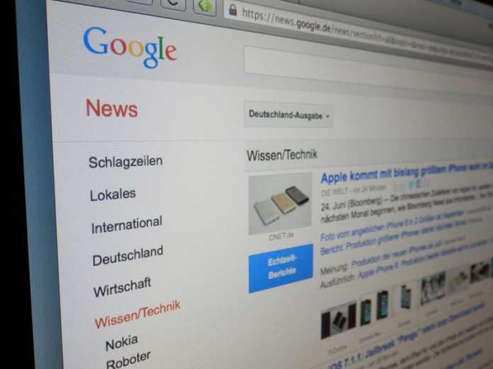 """Die Presseverleger sehen sich """"angesichts der überwältigenden Marktmacht von Google zu diesem außergewöhnlichen Schritt gezwungen""""."""