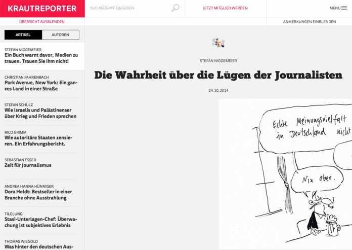 Mit einer Buchrezension macht das neue Web-Magazin zum ersten Mal auf