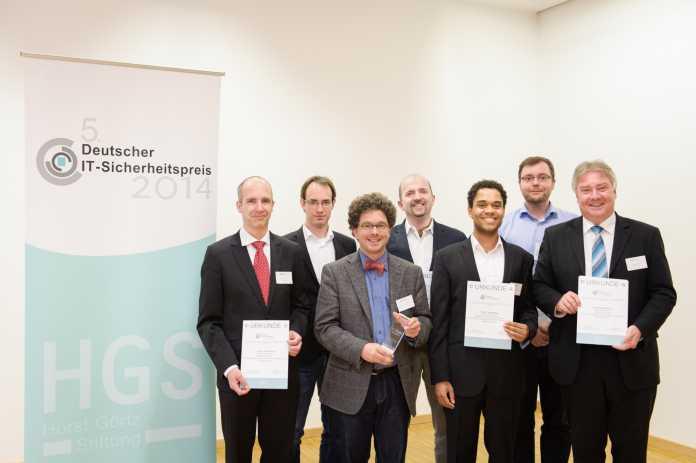 Foto der Preisträger des 5. Deutschen IT-Sicherheitspreises