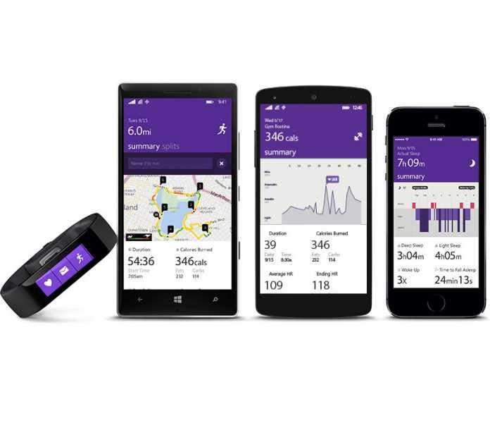 Das Microsoft Band läuft man nicht nur mit Windows-Phones, sondern auch mit iOS- und Android-Geräten.