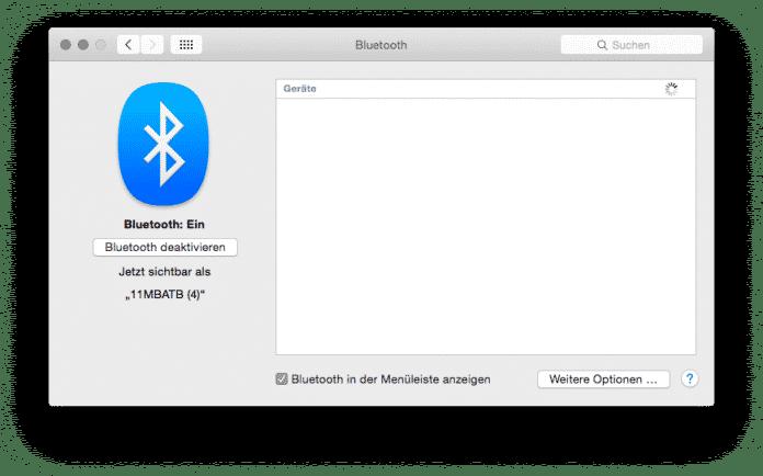 Bei Bluetooth- und WLAN-Verbindungen kommt es unter Umständen zu Schwierigkeiten mit OS X 10.10