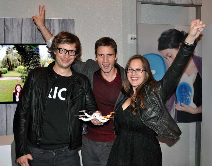 Haben den Intel-Wearable-Wettbewerb gewonnen: Team Nixie und seine fliegende Selfie-Kamera.