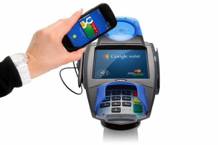 Google Wallet im Einsatz.