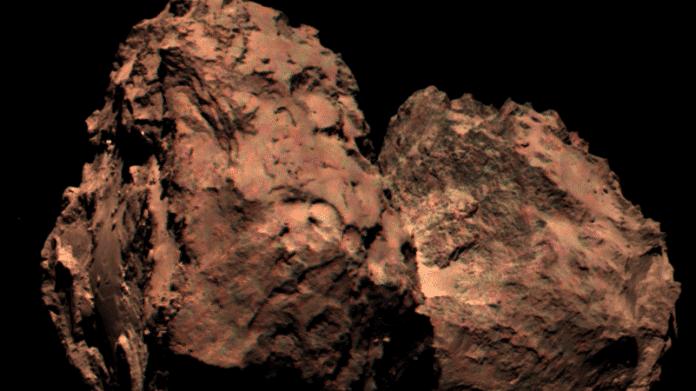 ESA-Sonde Rosetta: Ein Farbbild des Kometen