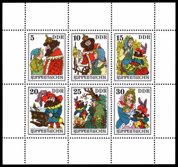 """DDR-Briefmarken """"Rumpelstilzchen"""""""