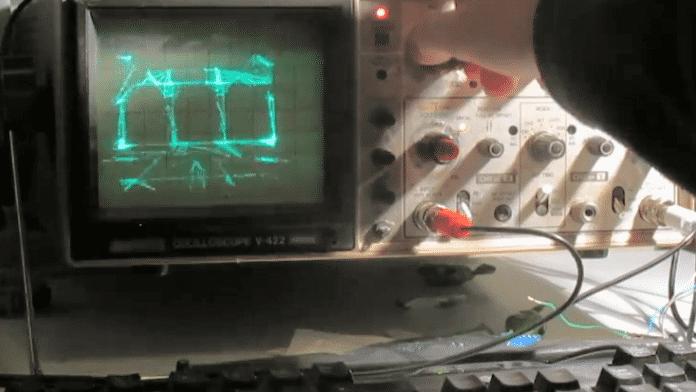 Quake auf dem Oszilloskop