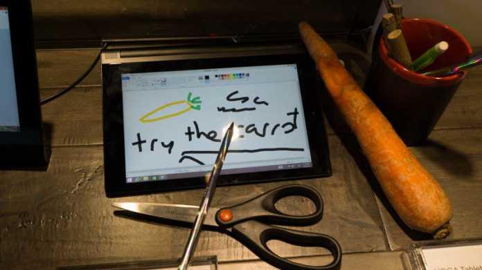 CES: Tablet akzeptiert beliebige Gegenstände zur Touch-Eingabe