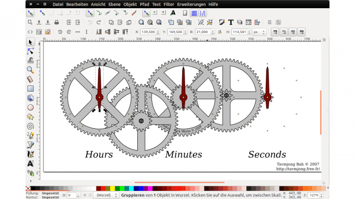 Grafikprogramm Inkscape mit schnellerem Renderer
