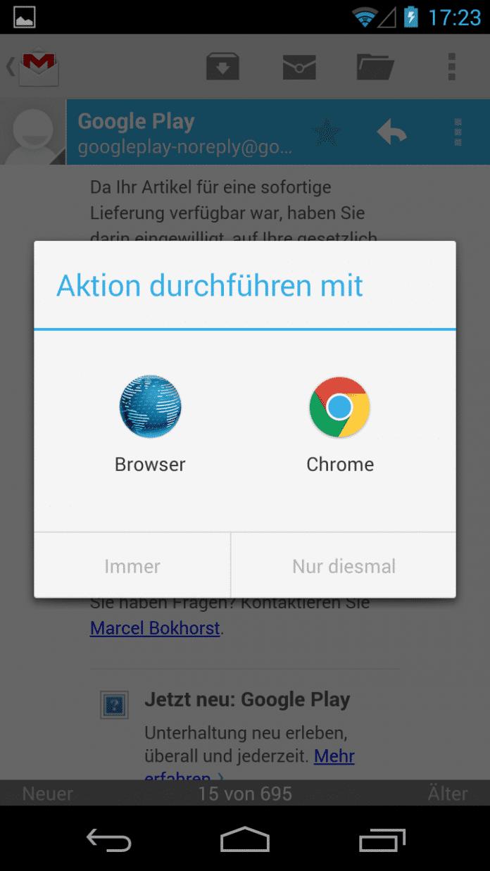 Sicher surfen trotz Android 4.3