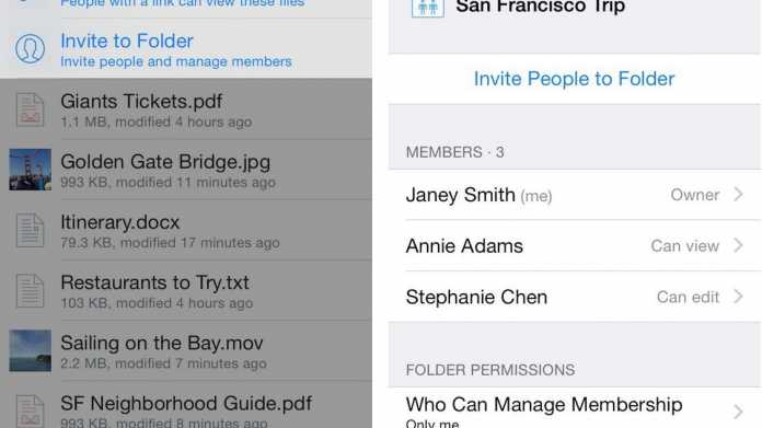 Dropbox systemweit unter iOS 8