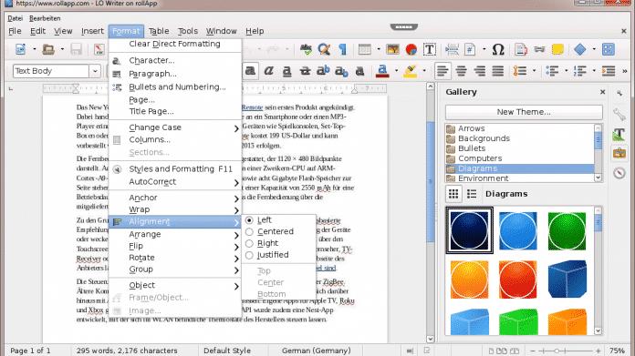 OpenOffice und LibreOffice laufen unter Firefox OS
